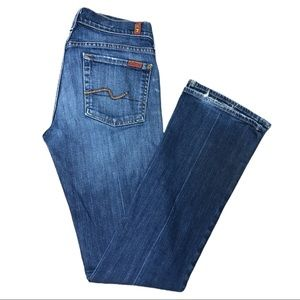 7 For All Mankind Bootcut Denim Jeans Blue 27 x 33